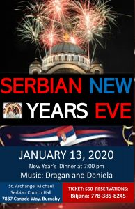 Serbian New Years 2020 Vancouver